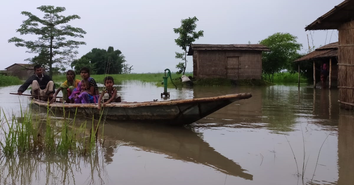 CJP's relief efforts continue in Assam despite cyclone, floods and heavy rains