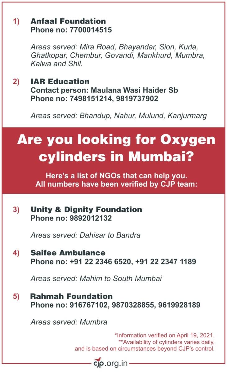Oxygen Cylinders In Mumbai
